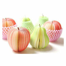 NOVELTY MEMO PAD WRITING STATIONARY NOTEPAD - CUTE GIFT IDEA - APPLE PEAR FRUIT
