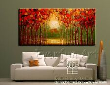 Framed !!! Handmade Modern Landscape Oil Painting On Canvas Wall Art Picture
