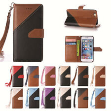 Luxury PU Leather Color Stitching Cover Case & Hand Rope for Apple iPod Touch 6