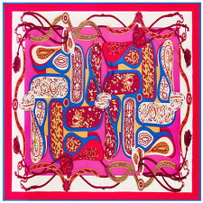 "New Arrival Women's Silk Square Scarf with with Printed Floral Pattern 39""*39"""