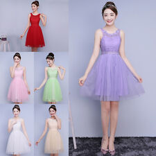 Women Short Formal Wedding Party Gowns Cocktail Prom Evening Bridesmaid Dress