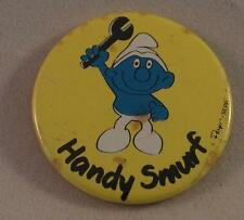 Vintage Handy Smurf Pin Pinback Button Badge