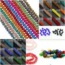 Faceted Rondelle Abacus Cut Glass Crystals Loose Beads for Craft Colour Choice