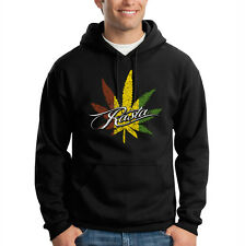 Rasta Pot Leaf Marijuana Weed 420 Kush Chronic Irie Hooded Sweatshirt Hoodie