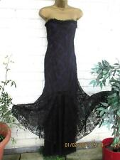 STUNNING LACE STRAPLESS DRESS AND JACKET BY NOMADS SZ 14/16 GOTHIC STEAMPUNK
