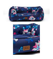 Joules French Navy Bloom Floral Percher Puppy Dog Bed Sizes Small - Large