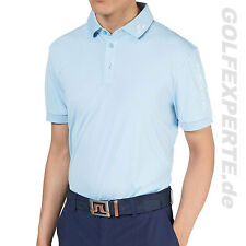 J.LINDEBERG GOLF MEN'S POLO SHIRT TOUR TECH REGULAR TX JERSEY LT BLUE