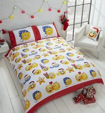 Christmas Festive Face Icon Themed Single Reversible Duvet Bedding Set