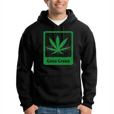 Gone Green Pot Leaf Marijuana Weed Chronic 420 Kush Hooded Sweatshirt Hoodie