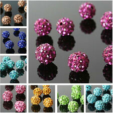20Pcs Quality Czech Crystal Rhinestones Pave Clay Round Ball Spacer Bead 8mm New