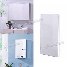 Stainless Steel Bathroom Mirror Cabinet Corner and Wall Mounted Single / Three