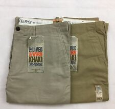 Dockers Men's D2 lived and worn khaki light trousers chinos straight fit pants