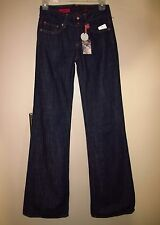 $182 AG Adriano Goldschmied Mona High Rise Wide Leg Flare Lightweight Jeans 25