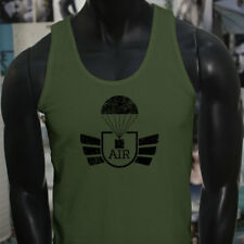 AIRBORNE PARACHUTE MILITARY ARMY SPECIAL FORCES Mens Military Green Tank Top