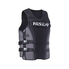 Mens Professional Life Jacket Life Vest for Adult PFD Neoprene Swimming Jackets