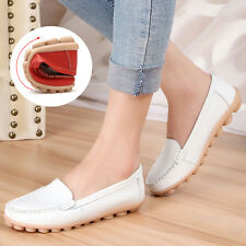 Womens Oxfords Casual Leather Shoes Lazy Peas Ballet Loafers Boat Comfort Flats
