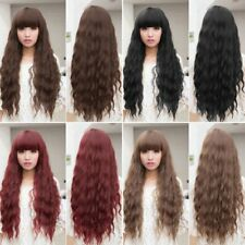 Beauty Fashion Womens Lady Long Curly Wavy Hair Full Wigs Cosplay Party BE