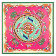 """Women's Chinese Gragon Style Printed Large Square Scarf Big Head Shawl 51""""*51"""""""