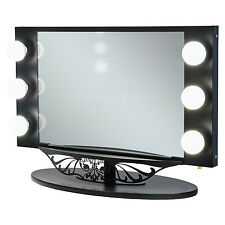 Vanity Girl Starlet Lighted Vanity Mirror with Optic Glass and 6 Cosmetic Li