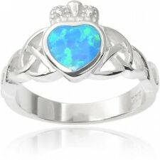 Alexandria Sterling Silver Gemstone Celtic Ring. Shipping is Free