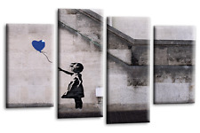 Large Banksy Canvas Prints Balloon Girl Blue 112cm | Canvas Wall Art Picture b