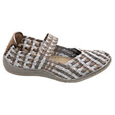 Mary Jane Metallic Woven Elastic Shoes