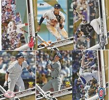2017 TOPPS BASEBALL SERIES 1 GOLD # 2017 U-PICK COMPLETE YOUR SET