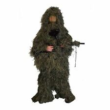 Ghillie Suit Camo Woodland Camouflage Forest Hunting 3D 4-Piece + Bag Hot
