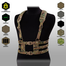 Tactical Military Molle Heavy Chest Rig Strap Harness Vest Belt Support Hunting
