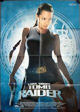 Lara Croft: Tomb Raider German video movie poster Angelina Jolie, Jon Voight
