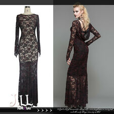 gothic victorian Astacia nightmare See through breezy lace maxi dress【SKT03202】