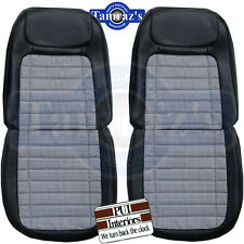 1968 Camaro Houndstooth Deluxe Front Seat Upholstery Covers - PUI New
