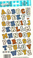 Letterman Alphabet -  E-Z Rub-On Transfers Sheet (Decals)