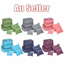 6Pcs Waterproof Travel Storage Bag Clothes Packing Cube Luggage Organizer OW
