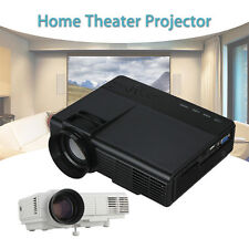 Projector LED LCD 1080P 1000 Lumens Home Theater Video Stereo USB AV TV VGA HDMI