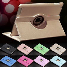 360 Rotating Folio Leather Smart Cover Stand Case Sleeve for Apple iPad Air 1/2