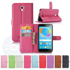 """Card Wallet PU Leather Flip Case Cover For Alcatel Pixi 4 5012G 5012F (5.5"""") #Q"""