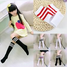 Toddler Kids Baby Girl Cotton Knee High Socks School Tights Soft Stockings 3-12Y
