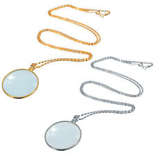 Decorative Monocle Lens Necklace With 6x Magnifier Coin Magnifying Glass Pendant