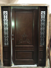 Wood Iron Door Pre-hung &Finished TMH2103-5 Frosted Glass