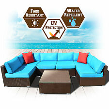 New 5/7/9PC Outdoor Sectional Rattan Wicker Sofa Patio Furniture Set Cushioned