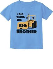 Big Brother Gift for Tractor Loving Boys Siblings Toddler/Infant Kids T-Shirt