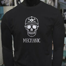 MECHANIC SKULL BLACK TRUCKS ENGINE REPAIR DEAD Mens Black Long Sleeve T-Shirt