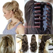 Long Ponytail Clip in Hair Extension Claw Pony tail clip on Extensions Hairpiece