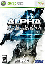 XBOX 360 - ALPHA PROTOCOL : THE ESPIONAGE RPG - EXCELLENT - SHIPS FREE - $11.95