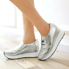 2017 New Womens Sneakers Athletic Tennis Shiny Casual Runing Sport Shoes US Size