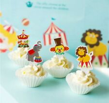CIRCUS THEMED CUPCAKE TOPPERS PICKS BIRTHDAY PARTY