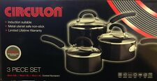 Circulon, Aluminium 3 piece Induction Saucepan Set, NEW(Q)