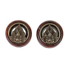 1 Pair Wooden Tunnels Plugs Ear Gauges Buddha Elephant Body Piercing Jewelry
