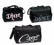 NEW Dance Bag MEDIUM Duffel Rhinestone SASSY pockets CHEER Ballet Jazz Hip Hop